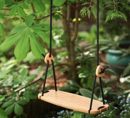 Lillagunga oak swing by Anton Stenfors