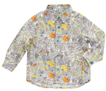 Grey Sydenham Hall Print Shirt from Liberty