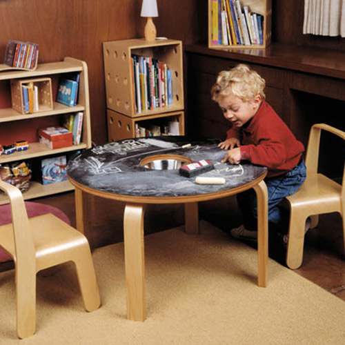 Eric Pfeiffer-designed Offi chalkboard table for kids