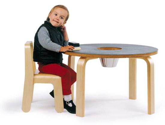 Eric Pfeiffer-designed Offi chalkboard table for kids