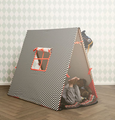 Kids fold-out tent by Trine Anderson for Ferm Living