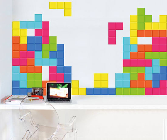 Tetris Blocks wall stickers