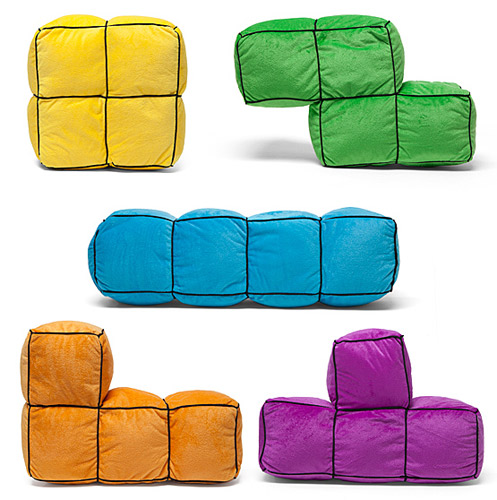 Tetris 3D Cushions at ThinkGeek