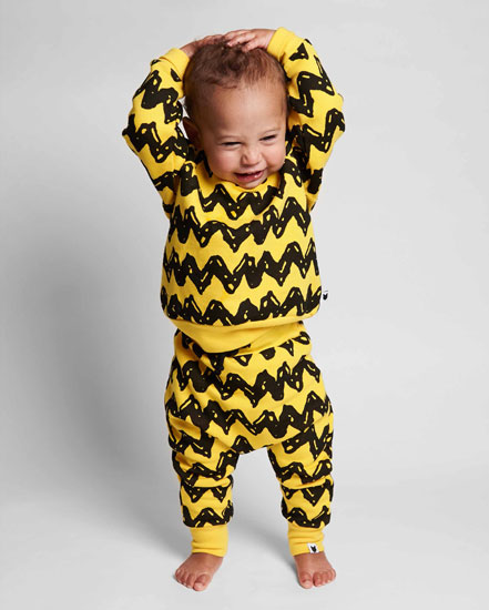 Peanuts-themed clothing for babies and toddlers by Tobias & the Bear