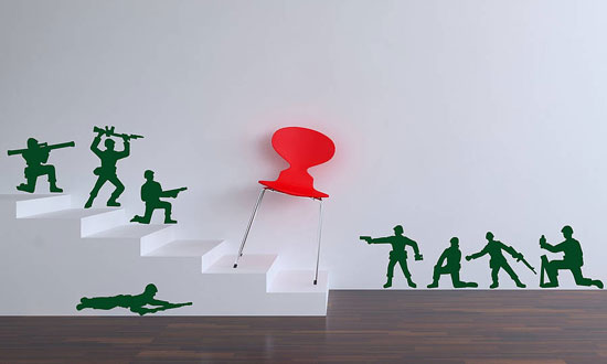 Toy Soldier Wall Stickers by Parkins Interiors