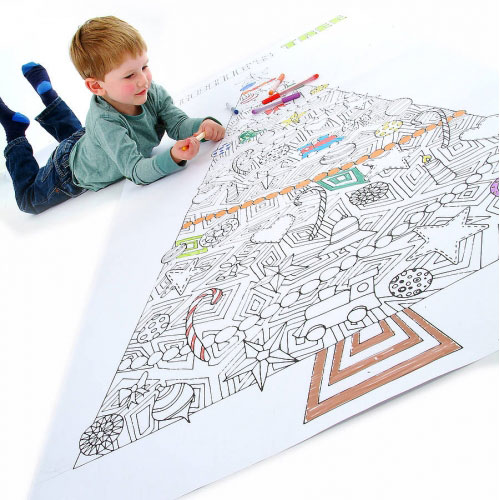 Colour In Giant Christmas Tree Poster by Claire Close