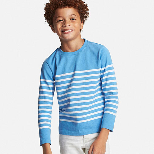 Affordable style: Breton-style tops for kids at Uniqlo