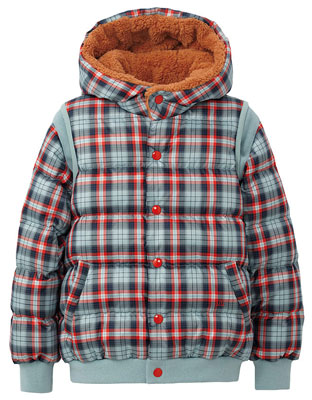 Kids two-way premium down parka+ at Uniqlo