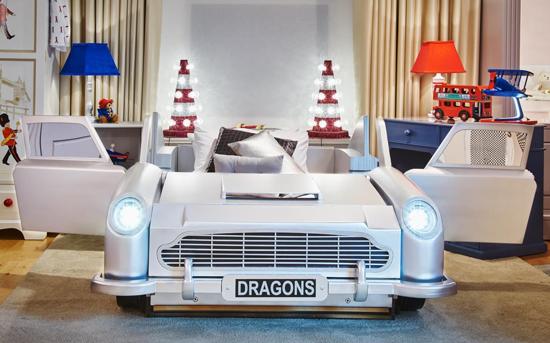 James Bond Junior: Vintage Car Bed at Dragons Of Walton Street