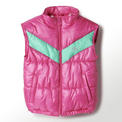 1980s-style Adidas padded vest for kids