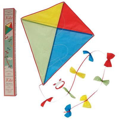 Vintage-style traditional Diamond Kite