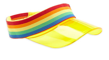 1980s-style Little Bird By Jools Rainbow Sun Visor