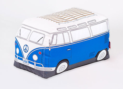 VW-inspired Camper Van bean bag at Woouf