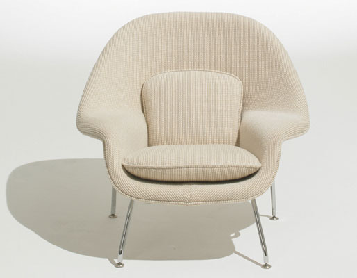 Eero Saarinen-designed Knoll Womb Chair for kids