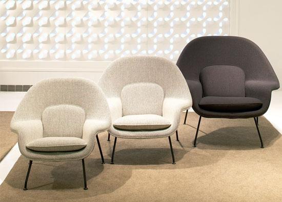 Eero Saarinen-designed Knoll Womb Chair for kids