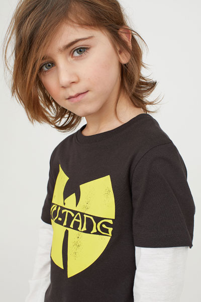Wu-Tang Clan top for kids at H&M